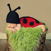 FuzzyGreen® Pretty Unisex Beetle Design Crochet Knitted Photography Baby Outfits