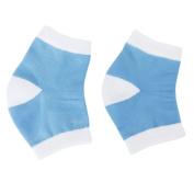 1 Pair Heel Dry Hard Gel Cracked Skin Moisturising Socks Open Toe Pain Relief