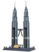Wange The Petronas Towers Of Kuala Lumpur Building Block 1160pcs World's Great Architecture Series,toy No.8011