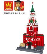 Wange 8017 3d Diy 1048pcs Large Building Block Sets Eductional Blocks Toys Famous Building Spasskaya Tower Moscow