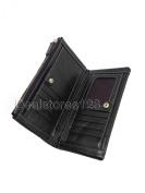 Dealstores123 - Genuine Leather Women's Wallet, 9 Card Slots, 1 ID Slot