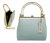 Golden Sky Blue Posh Cocktail Purse