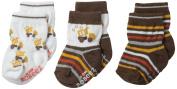 Robeez Baby-Boys Newborn 3 Pair Socks Busy Lofty