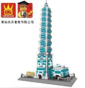 Wange 8019 3d 151 Large Bricks Blocks Building Block Sets Children Eductional Toys Famous Building Taipei 101