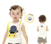 SOPO Baby Boy Summer Outfits 2 Pcs Set (Funny T-shirt, Strip Shorts) 18-24m