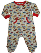 Happi by Dena - Newborn Boys Long Sleeve Footed Coverall