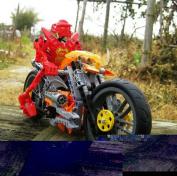 Decool 9368 Diy Hero Factory Star Soldier War Furno Bike Motorcycle Building Blocks Sets Educational Children Toys