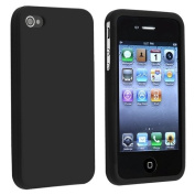 SOFT BLACK SILICONE RUBBER CASE for iPhone® 4 4S 4G 4GS G