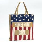Enesco Homefront Girl American Flag Tote, 42cm
