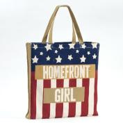 Enesco Homefront Girl American Flag Tote, 42cm
