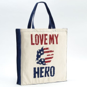 Enesco Homefront Girl Love My Hero Tote, 42cm