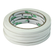 5 Rolls of Double Sided Faced Strong Adhesive Tape fo Office School Supplies 6mm