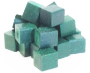 Harbour Sales HWB14b Beeswax for Candle Making and Crafts, Dark Green