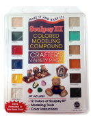 Sculpey III Polymer Coloured Modelling Compound - Crafter's Variety Pack