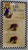 Flat Crow heads 1.9cm tall Little Blessings Figure set of 2 heads