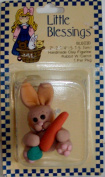 Rabbit with Carrot 5.1cm tall Little Blessings Figure