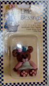 Bear In Peach Dress 5.1cm tall Little Blessings Figure