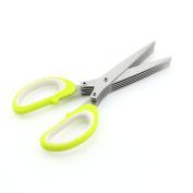 Stainless Steel Office Kitchen Multi-Blade Herb Shredding Scissors