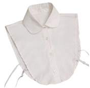NuoYa001 Fashion Doll collar Vintage Elegant Women's Fake Half Shirt Detachable Blouse White