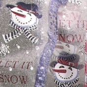 "Sheer White ""Let it Snow"" Wired Craft Ribbon 6.4cm x 20 Yards"