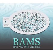 Bad Ass Paisley Mini Stencil BAM2012