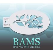 Bad Ass Rose Mini Stencil BAM2022