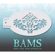 Bad Ass Damask Mini Stencil BAM2004