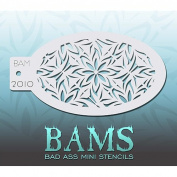 Bad Ass Frozen Flowers Mini Stencil BAM2010