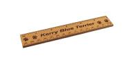 Kerry Blue Terrier 15cm Alder Wood Ruler