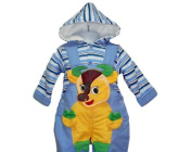 Cattle Theme 2 Piece Set with Padded Jacket & Shortalls 2t