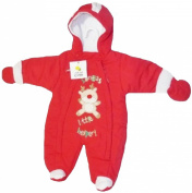 Christmas Theme Santas Little Helper Snowsuit for Infants 3-6 Months