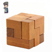 Old China Ancestral Wooden Iq Puzzle Cubes Educational Toys For Children Ming/luban Lock Square Lock Brain Teaser Lh153