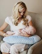 Nursing Pillow Blue Breastfeeding Maternity Twin Support Pillow