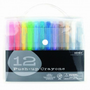 Xonex Snap Case Art Supplies - Push-Up Crayons, 12PC, 1 count