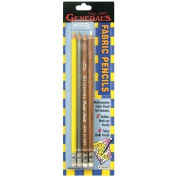 General Pencil Fabric Pencils, Grey, White, Silver and Yellow, 4-Pack