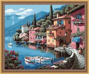 AutoLive Paintworks Paint By Number Kits, 50cm x 41cm , Sunny Seashore