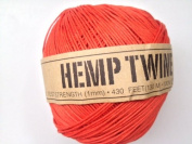 Orange Hemp Twine Cord 1mm 143yd 130m 430ft DIY