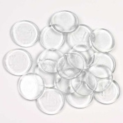 20 Round Clear Glass Tile Wafers