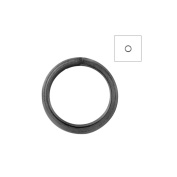 About 570pcs Zacoo Open Jump Rings Shape Round Colour Gun metal Black 6x6x0.7 Outside Diameter 6mm