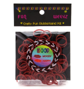 Fun Weevz Brown to Red Mood Rubber Bands