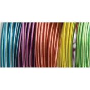 Plastic Coated Fun Wire Value Pack 2.7m Coils-22 Gauge Translucent 5/Pkg