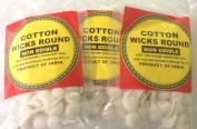 Cotton Wicks Round 14grams, Approx. 70 Wicks