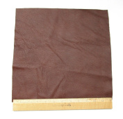 Upholstery Leather Piece Medium Brown Cowhide Light Weight 30cm x 30cm 1 SF