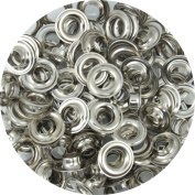 Springfield Leather Company Solid Brass Nickel Plate 1cm Grommets 100 Pack