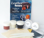 Leather Restore Air Dry Leather and Vinyl Repair Kit Fixes Rips Scratches Holes on Brown Tan Off White Furniture Sofas Auto Seats