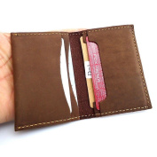 Genuine Leather Handmade Mini Miniature Mens Wallet Money Id Credit Cards Holder Case Compact Retro