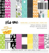American Crafts 36-Sheet Amy Tangerine Plus One Patterned Paper Pad, 15cm by 15cm