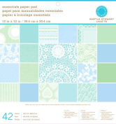 Martha Stewart Crafts Paper Pad, Doily Lace, 42 Sheets, 30cm by 30cm