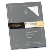 Southworth Parchment Specialty Paper, Blue, 11kg., 8-1/2 x 11, 100/Box