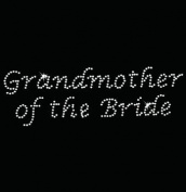 Iron on Hot Fix Rhinestone Motif Design Grandmother of the Bride - Lucinda